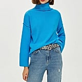 Topshop Super Soft Ribbed Roll Neck Jumper