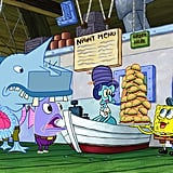 "Friday, Oct. 26, at 6:00 p.m. local time: SpongeBob SquarePants (pictured)  ""The Night Patty"": SpongeBob helps out the Krusty Krab's night-shift crew, but the customers crave something creepier than usual.  Saturday, Oct. 27, at 8:30 p.m. local time: Dude Perfect  ""Trick Shots and Treats"": It's Halloween, and the Dudes plan to turn their headquarters into the ultimate trick-or-treat destination. They'll put their larger-than-life Dude Perfect twist on beloved Halloween traditions."