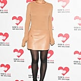 Miroslava Duma stood out in Michael Kors's monochromatic ensemble at Spring Studios for the Golden Heart Awards.