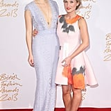 Suki Waterhouse and Sophia Webster at the British Fashion Awards.