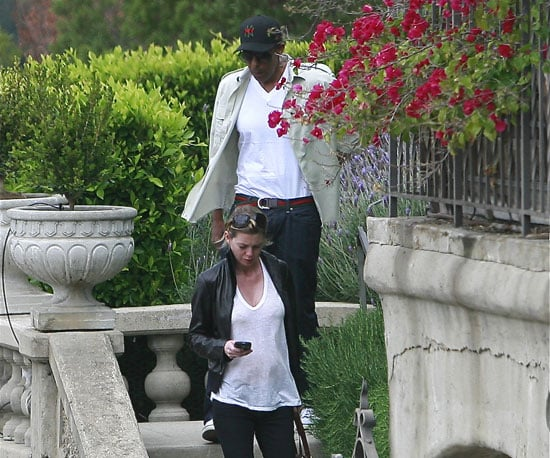 Photo of Pregnant Ellen Pompeo with Her Husband Chris Ivery 2009-04-25 11:19:34
