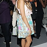Dionne Bromfield wore pastels at PPQ.