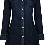 Alexa Chung For AG Dark Blue Denim Mini Dress ($495)