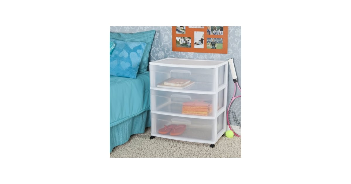Sterilite 3 Drawer Wide Cart | Dorm Room Essentials At Walmart | POPSUGAR  Home Photo 7