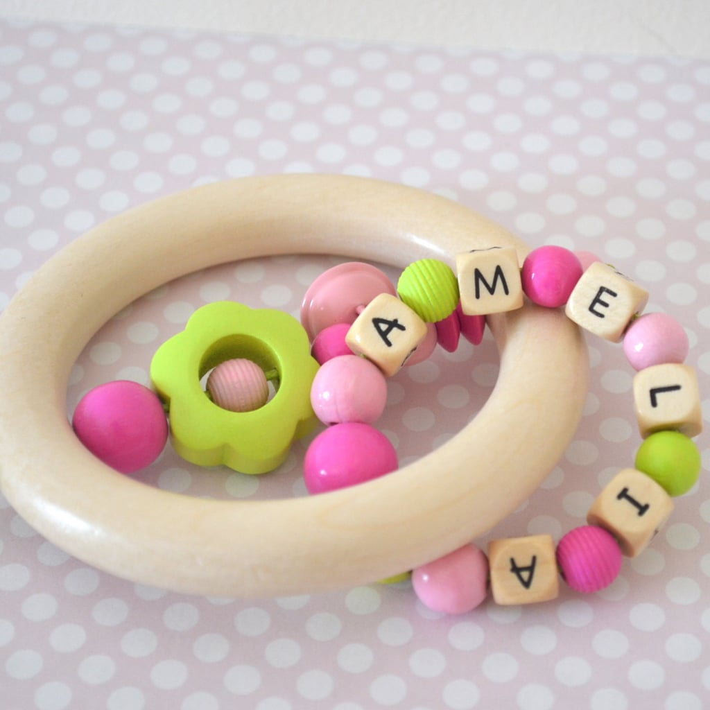 Personalized Teether and Rattler