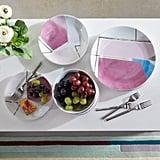 MoDRN Glam Geo 12 Piece Porcelain Dinnerware Set
