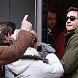 Jake Gyllenhaal signed autographs in Berlin.