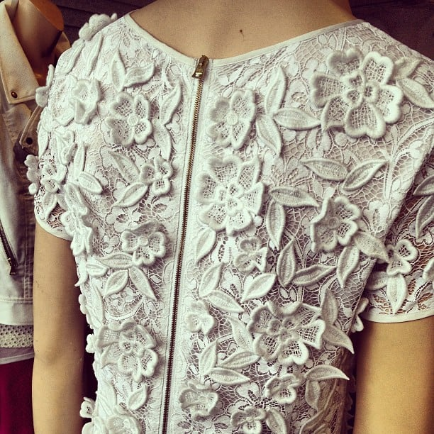 The 3D effect of this Club Monaco lace dress made us stop in our tracks.