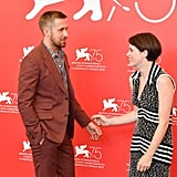 With Claire Foy.