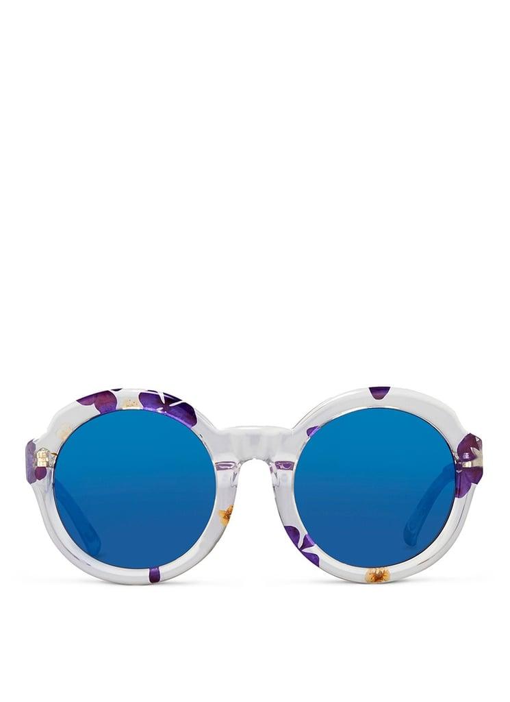 3.1 Phillip Lim Pressed flower clear acetate oversize mirror sunglasses ($315)