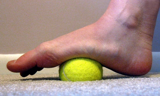 Massage Your Feet With a Tennis Ball