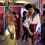 Enemies Holly and Naomi are all smiles at the Halloween bash.  Photos courtesy of CW