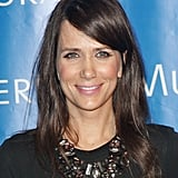Kirsten Wiig topped off her ensemble with a statement necklace.