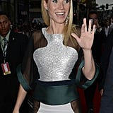 Gwyneth Paltrow waved to fans.