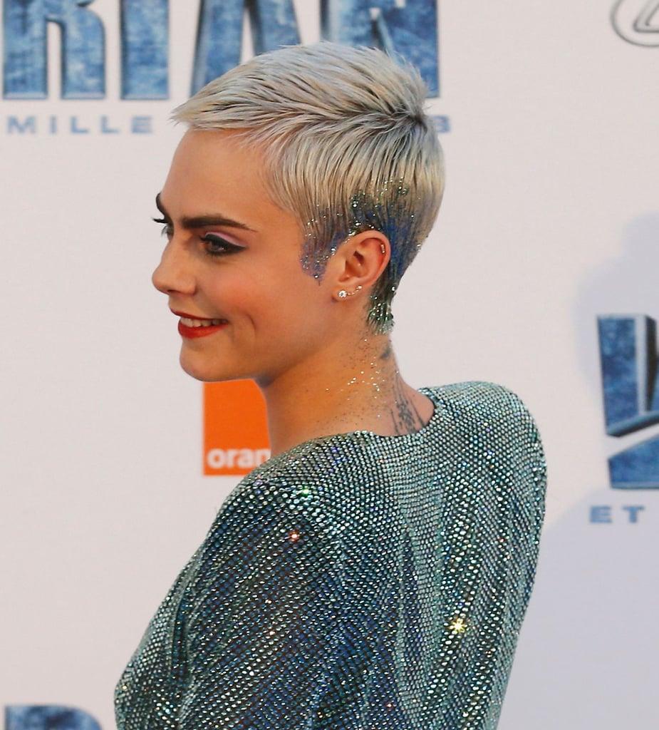 Cara Delevingne S Sparkly Pixie 2017 Cara Delevingne Hair