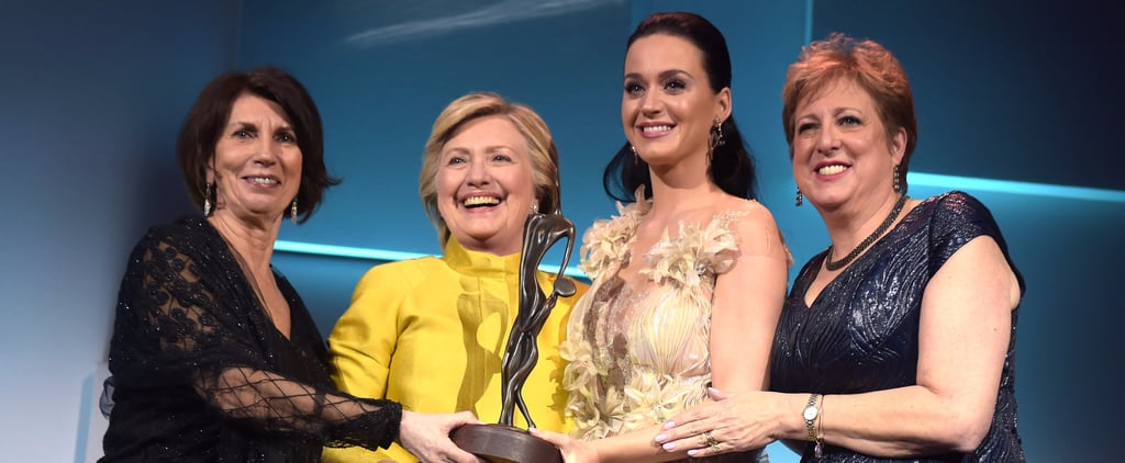 Hillary Clinton Gives Katy Perry a Sweet Surprise at the UNICEF Snowflake Ball in NYC