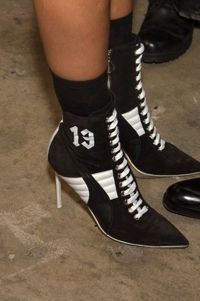 super popular a6063 59d0f The Shoes Were a Heeled Riff on High Tops | Rihanna Fenty x ...