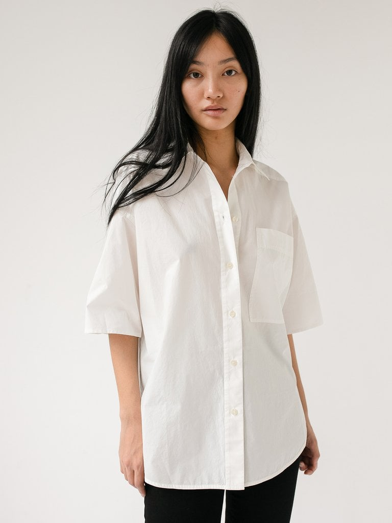 Lee Matthews LM Poplin Short Sleeve Shirt ($249)