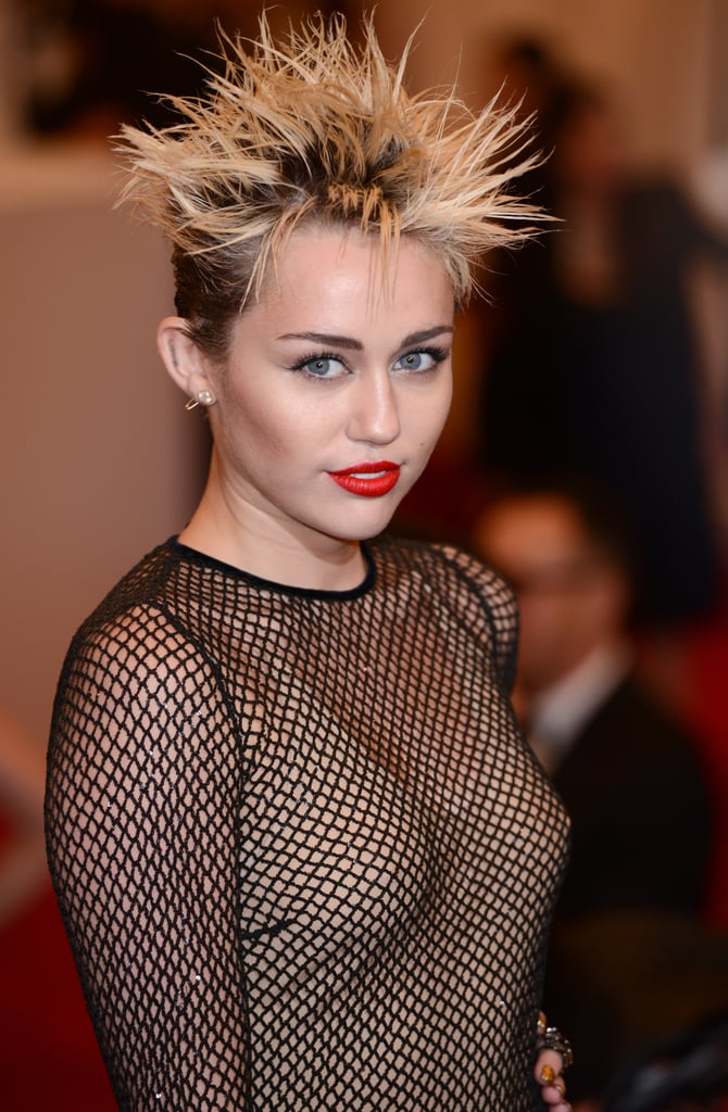 Miley Cyrus's Hair and Makeup at the 2013 Met Gala