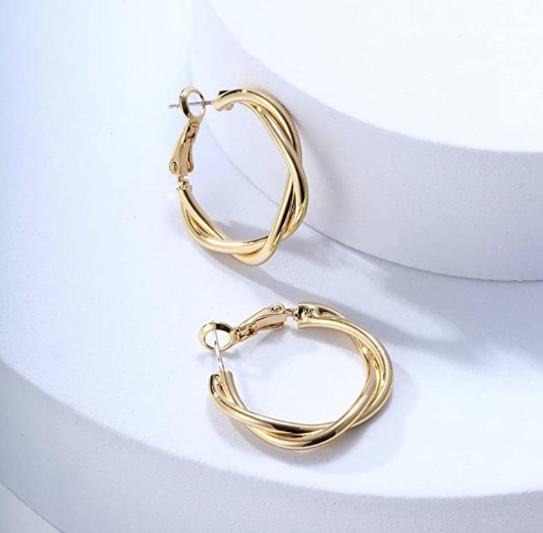 Ascona Gold Chunky Hoop Earrings