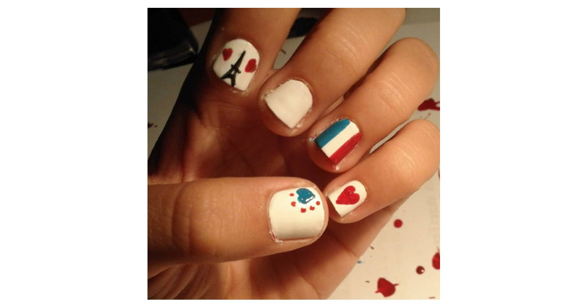 pray for paris nail art popsugar beauty photo 3