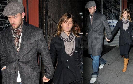 Justin Timberlake, Jessica Biel, Lynn Harless at Southern Hospitality in New York City