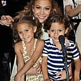 Jennifer Lopez and Max and Emme Muñiz