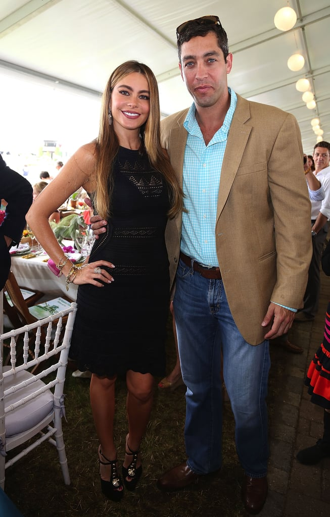 Sofia Vergara was accompanied by her fiancé, Nick Loeb, at the Hampton Classic Horse Show in September.