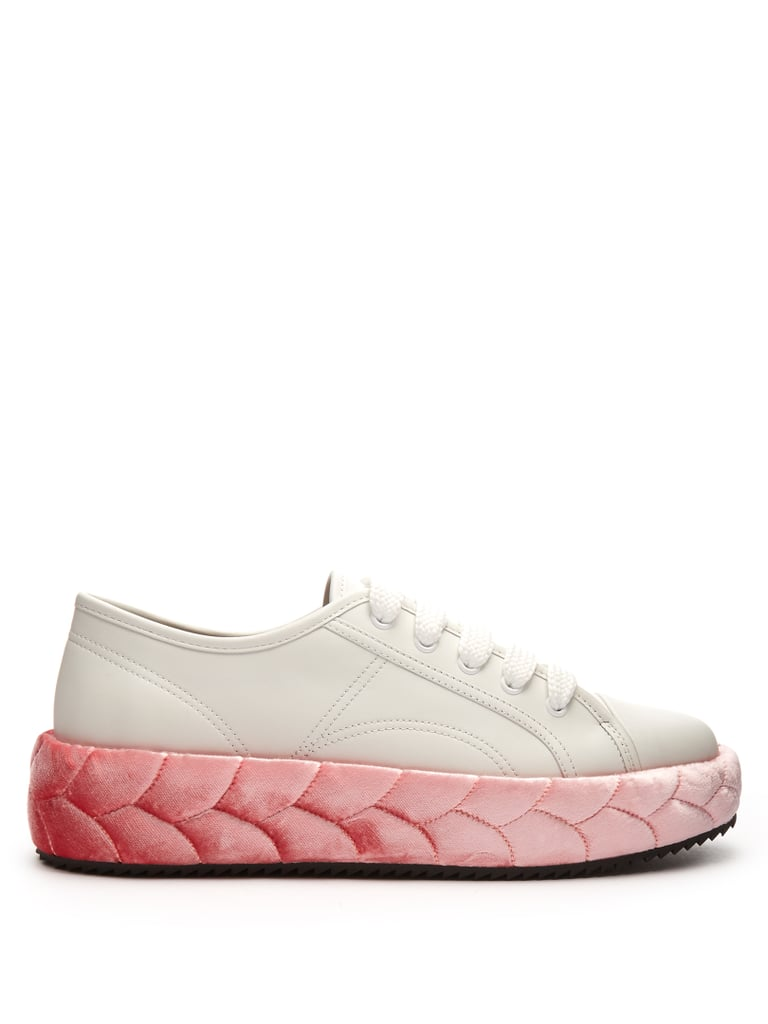 Who wouldn't appreciate the illusion of braided velvet on Marco de Vincenzo's Low Top Leather Trainers ($645)?