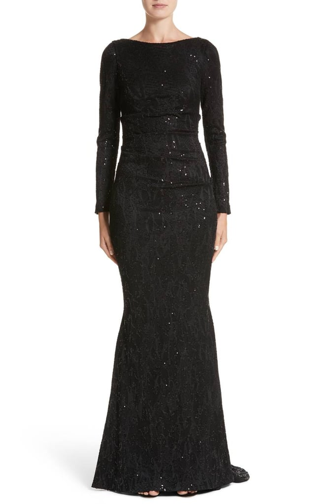 Talbot Runhof Sequin Lace Gown