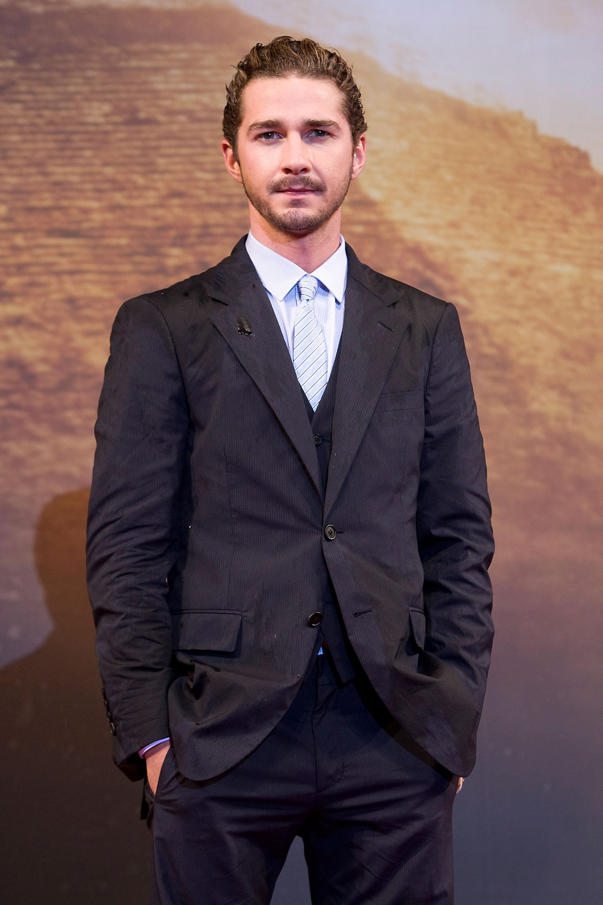 We had to do a double-take after seeing this photo from the Korea premiere of Transformers: Revenge of the Fallen in June 2009; how hot does Shia look here?