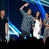 He attended the MTV Movie Awards with Vin Diesel, Michelle Rodriguez, and Jordana Brewster in April 2013.