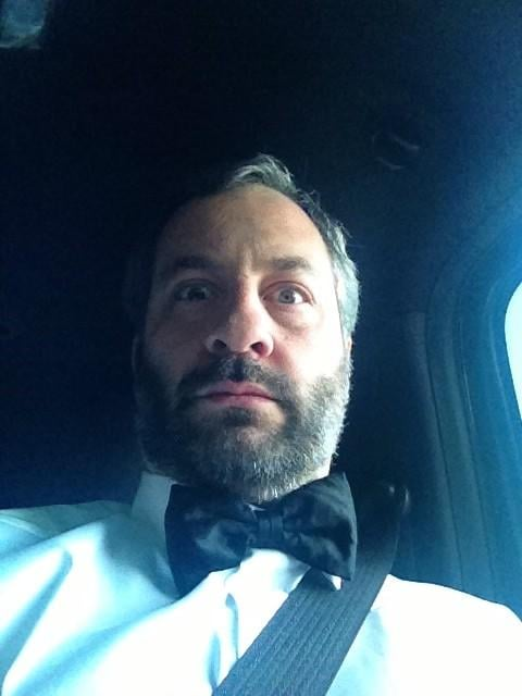 Judd Apatow snapped a pic of himself looking very dapper en route to the show. Source: Twitter user juddapatow