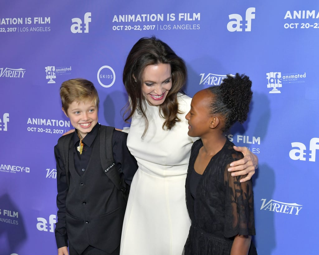 Angelina had a girls' night out with Shiloh and Zahara at the premiere of The Breadwinner in LA in October 2017.