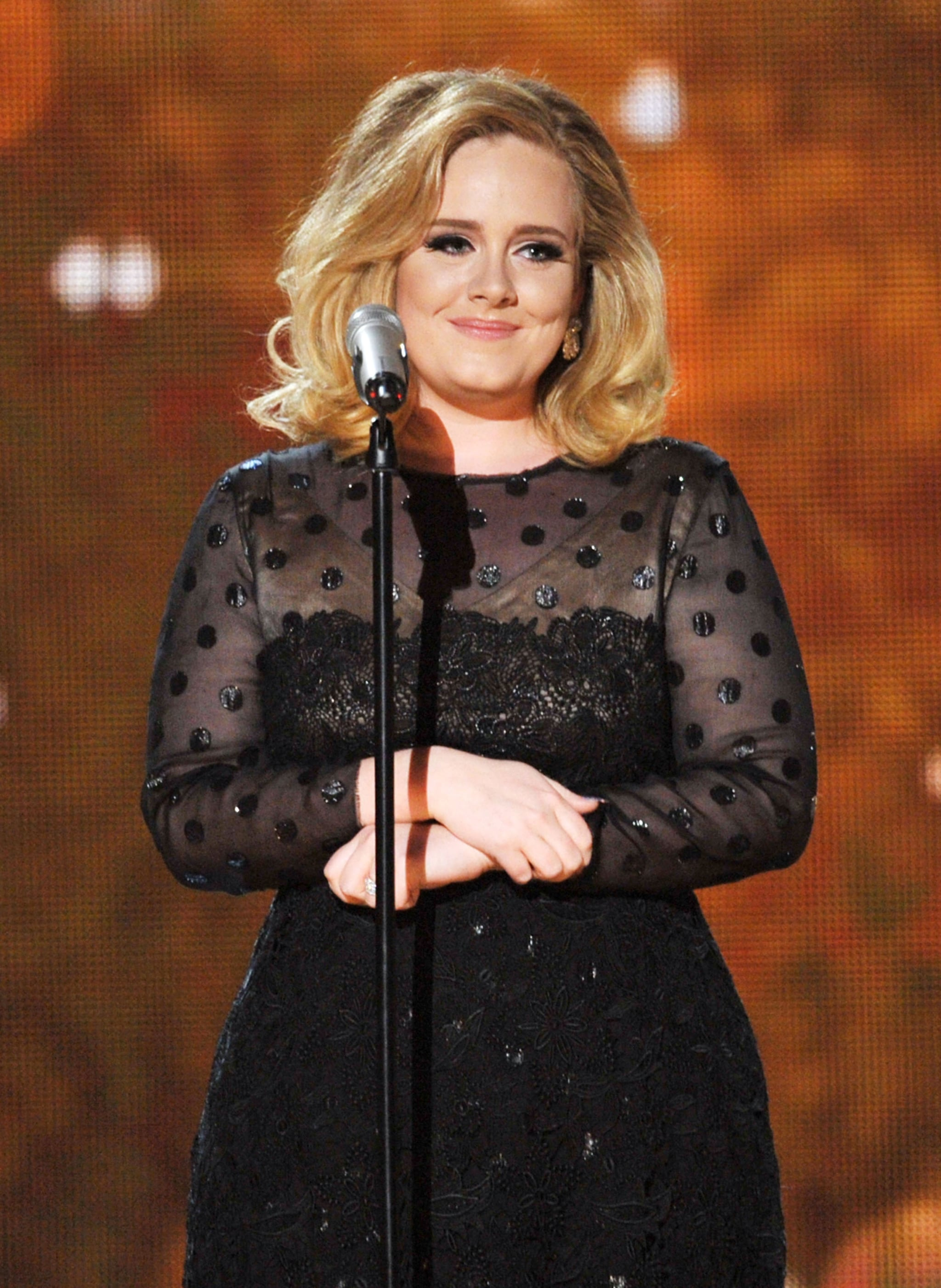 Adele performed at the Grammys.