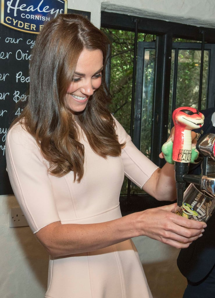 Kate Middleton and Prince William Drinking