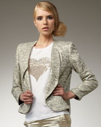 """I love getting things for people that they wouldn't normally pick up for themselves. My sister buys tons of great basics, but she is in need of a fun sparkly jacket to punch up an outfit. This one by Alice and Olivia has just the right amount of shine and can be worn over a cocktail dress or a pair of casual trousers!"" — Allison McNamara, FabSugarTV host and producer  Alice and Olivia Amelia Sparkle Tweed Blazer ($550)"