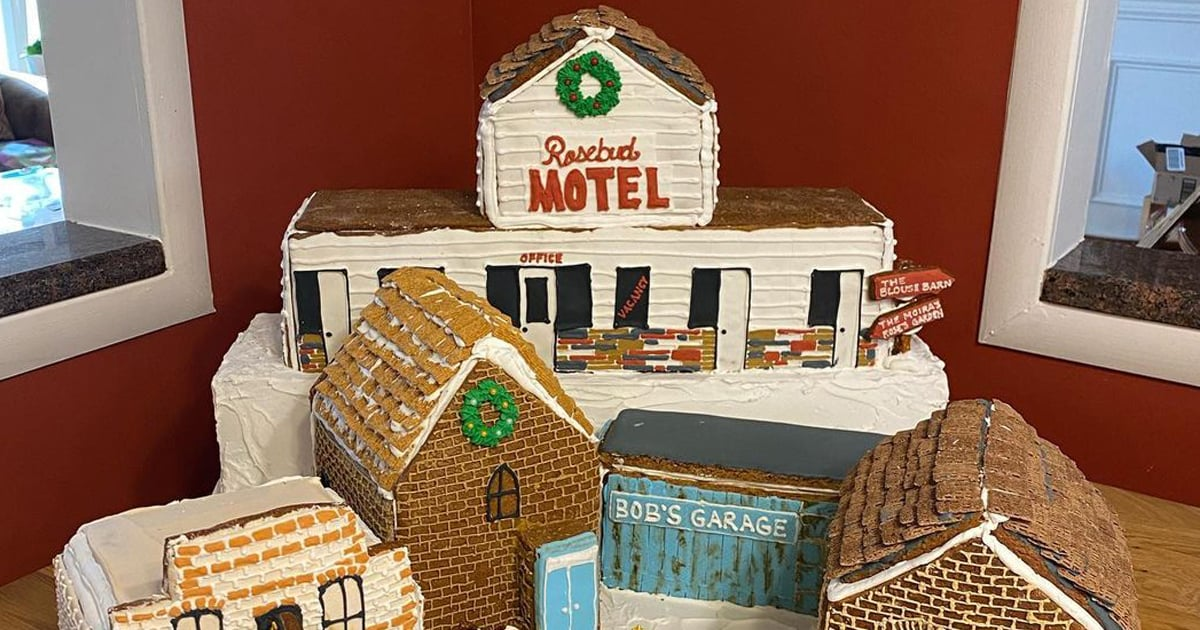 These Schitt's Creek Gingerbread Houses Are Beyond Impressive — Look at That Rose Apothecary!