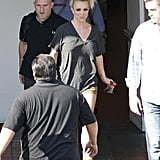 Britney Spears left a hotel after her Elizabeth Arden photo shoot in LA.