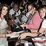 Ashley Greene signed autographs before the premiere of Butter at the Toronto Film Festival.