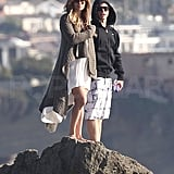 Jennifer Lopez and Casper Smart enjoyed the scenery of Malibu.