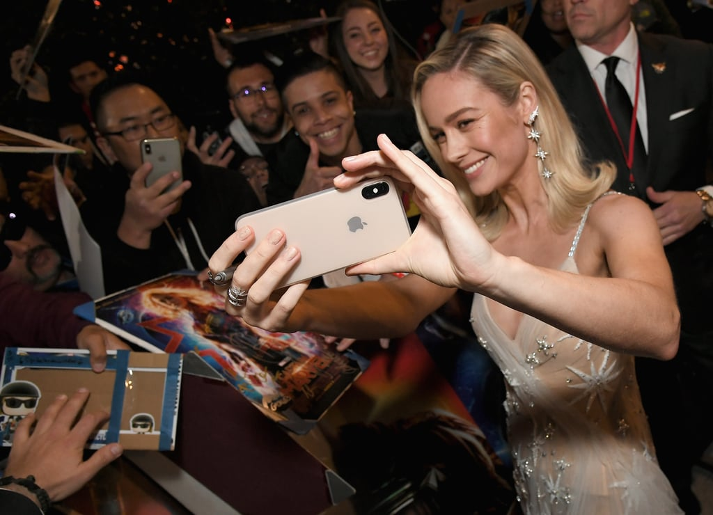 Brie Larson's Stunning, Sheer Captain Marvel Premiere Gown Has a Special Meaning Behind It