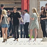 Victoria Beckham, Geri Halliwell, Emma Bunton, and Melanie Chisholm rehearsed for the Olympics.