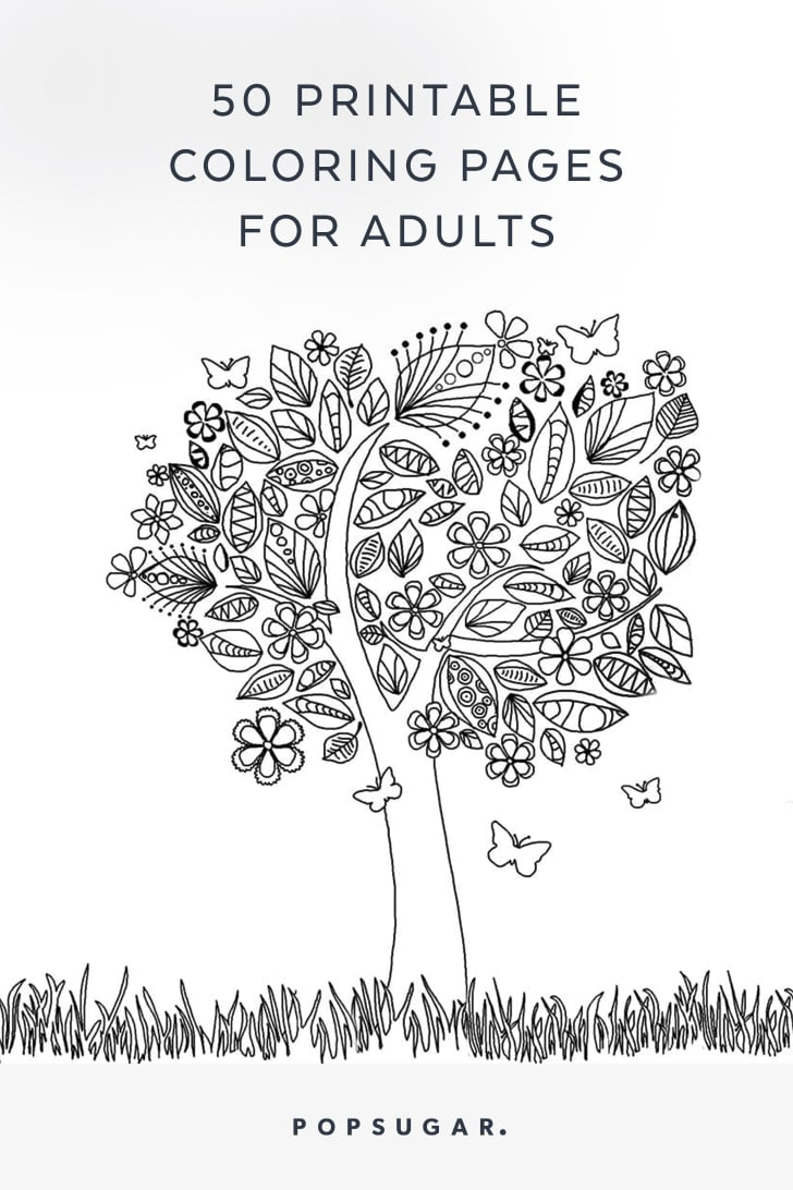 Free Printable Adult Coloring Pages Popsugar Smart Living