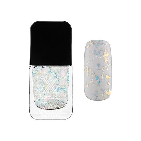 Formula X has taken over Sephora, making it easy for nail art junkies to get their fix. One shade you need on your radar for December is its Transformers Top Coat in Hyperactive ($13), which is made up of opalescent chunks of glitter. Polish on bare nails or over your favorite polish to stay festive all month long. — KJ