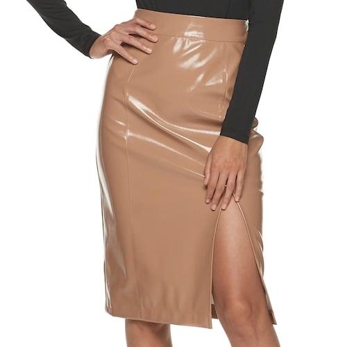 Vinyl Tan Skirt