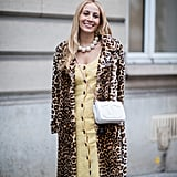 Style Your Leopard-Print Coat With: A Colorful Dress, Bag, and Statement Necklace