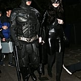 Liam Payne and Maya Henry as Batman and Catwoman