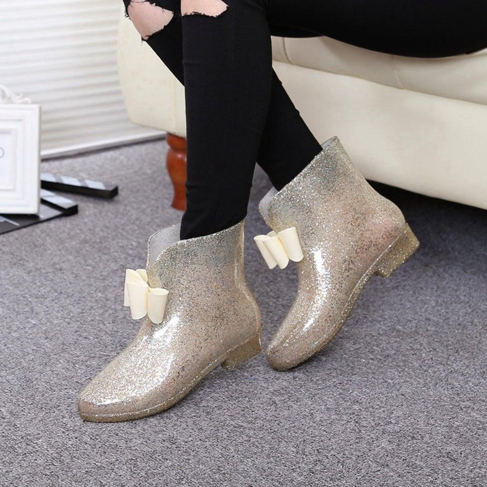 ff40537b4aa Glitter Rain Boots on Amazon