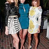 Rosie Huntington-Whiteley and Nicole Richie met up with Liberty Ross.